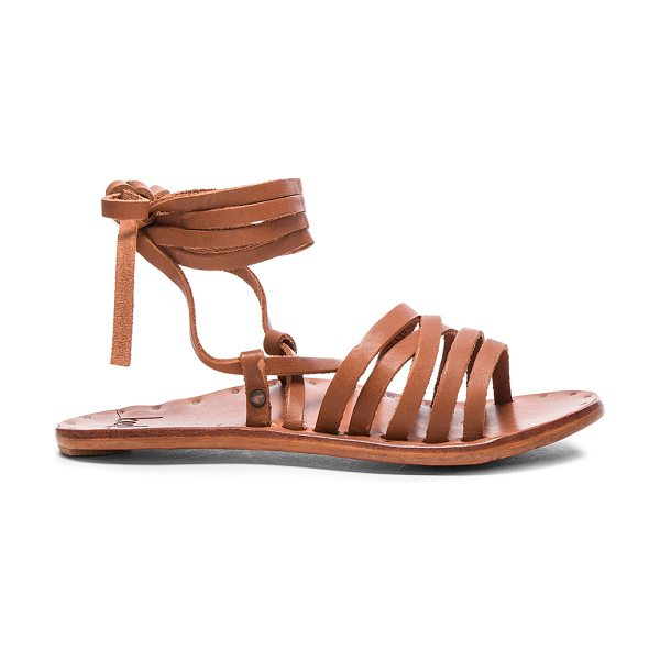 Beek Leather Heron Sandals in brown - Vegetable tanned leather upper and sole.  Made in...