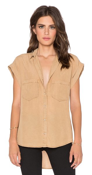 BELLA DAHL Crossback button up top - 100% tencel. Front button closures. Front patch pockets....