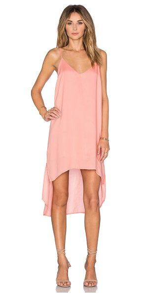 Bella Dahl High low hem dress in coral - 100% tencel. Partially lined. Asymmetrical hem....