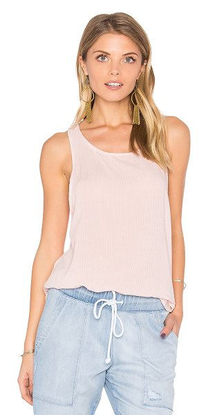 Bella Dahl Ruffle Hem Tank in Tiki Stripe Wash in pink - Rayon blend. Hand wash cold. BLD-WS203. B2254 883 302....