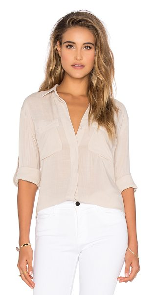 BELLA DAHL Split Back Button Down - 100% rayon. Button front closure. Double front breast...