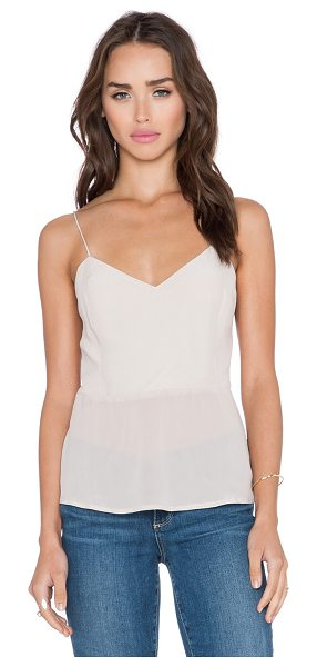Bella Luxx Button back tank in beige - Self: 100% silkLining: 65% poly 35% viscose. Dry clean...