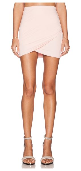Bella Luxx Shirred cross front skirt in peach - Self: 100% modalLining: 95% rayon 5% spandex. Skirt...