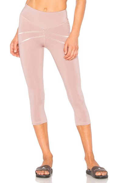 BELOFORTE Catalonia Crop Leggings in dusty rose - Self: 88% nylon 12% spandexContrast: 86% nylon 14%...