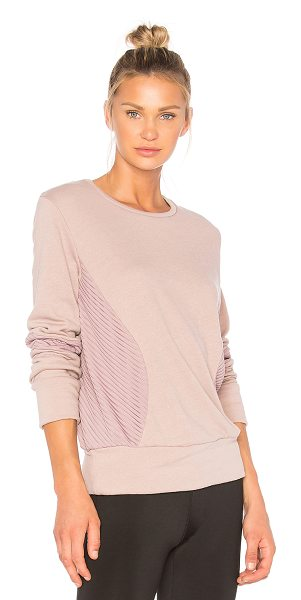 BELOFORTE Santorini Sweatshirt - Nylon blend. Ribbed panels. Banded edges. BELO-WM46. F17 008.