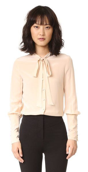 BELSTAFF lucy top in blush - Blouson sleeves and extended cuffs add victorian...