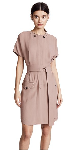 BELSTAFF darcie shirtdress in old rose - Fabric: Crepe Mixed-metal studs Knee length Crew neck...
