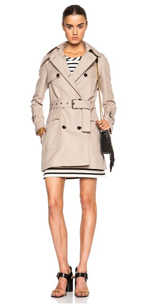 BELSTAFF Maxem cadi mousse cotton trench in neutrals - Self: 100% cotton - Lining: 68% acetate 32% poly.  Made...