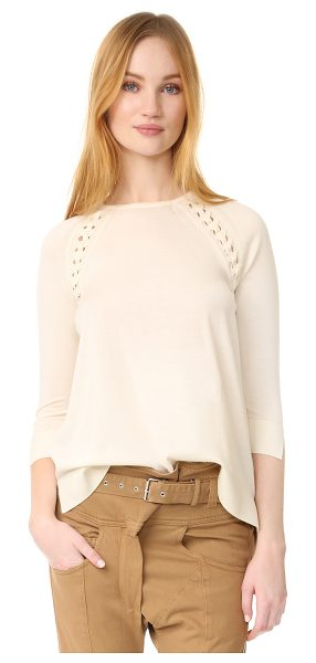 BELSTAFF stacia sweater in cream - A soft Belstaff sweater in a loose silhouette. Tiny...