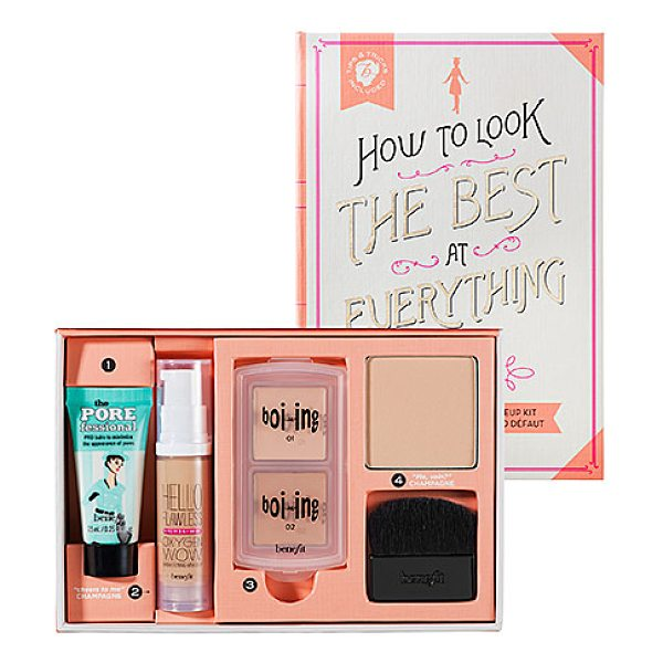 Benefit Cosmetics how to look the best at everything light - A four-piece flawless complexion makeup kit exclusive to...