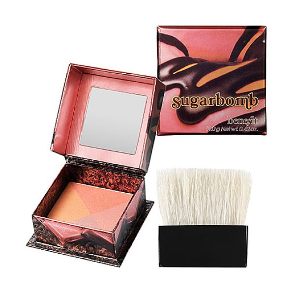 "Benefit Cosmetics sugarbomb box o powder blush sugarbomb - A ""sugar rush flush"" facial powder. Gimme some..."