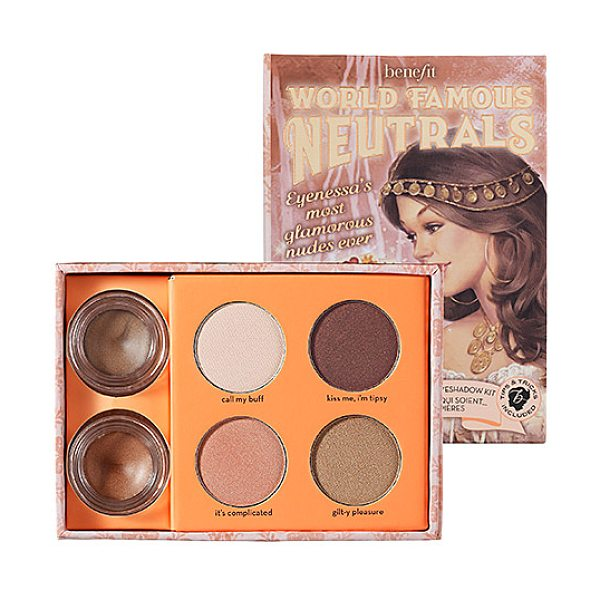 Benefit Cosmetics world famous neutrals - most glamorous nudes ever - An eyeshadow kit featuring the most glamorous nudes...