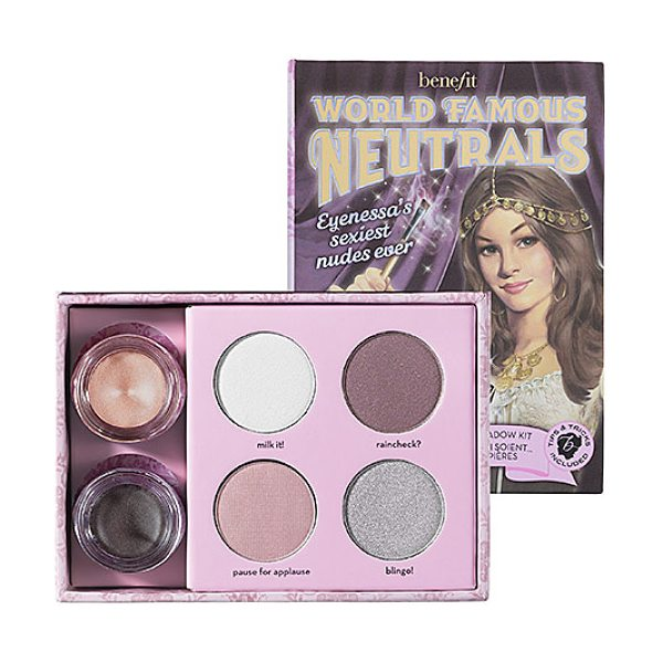 Benefit Cosmetics world famous neutrals - sexiest nudes ever - An eyeshadow kit featuring the sexiest nudes ever. These...