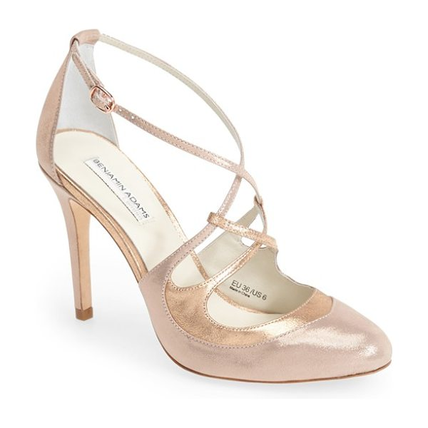 Benjamin Adams London thierry dorsay pump in rose metallic leather - Catch the light and everyone's attention in this...