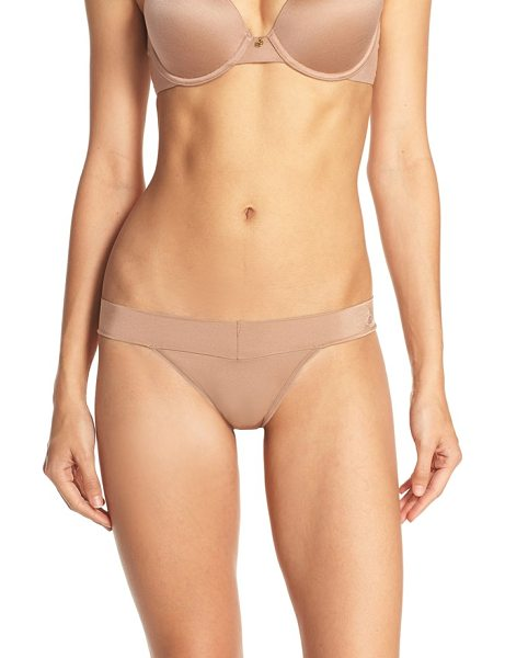 Betsey Johnson forever perfect thong in latte - An everyday thong in smooth microfiber is fashioned with...