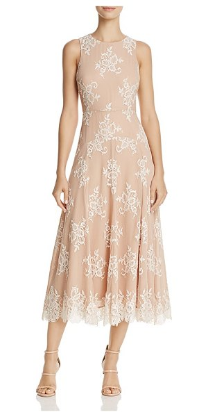 Betsey Johnson Tea-Length Lace Dress in ivory/nude - Betsey Johnson Tea-Length Lace Dress-Women