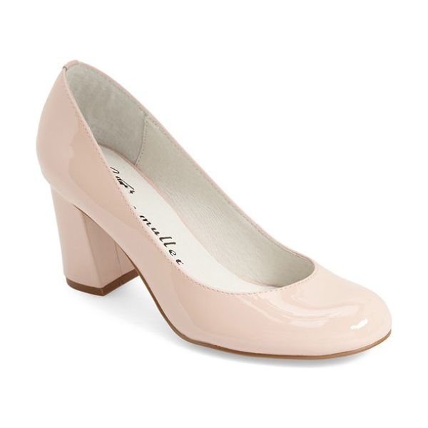 Bettye By Bettye Muller 'colette' pump in blush - A chunky covered heel and a rounded toe look fresh and...