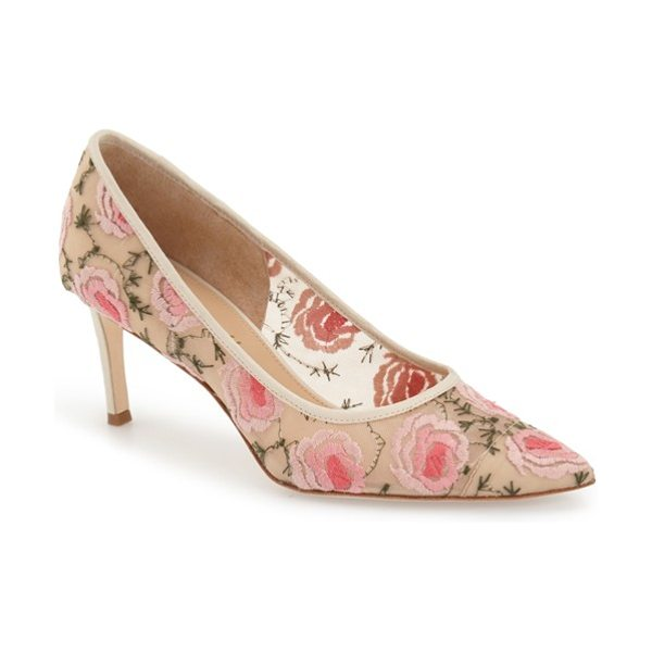 BETTYE MULLER annebel pump - Beautifully embroidered floral lace patterns a...