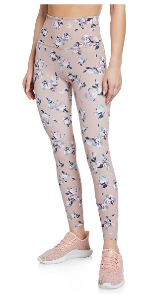 a194d6bded4d0 Beyond Yoga Marble-Print High-Waist Midi Performance Leggings in floral  blush - Beyond
