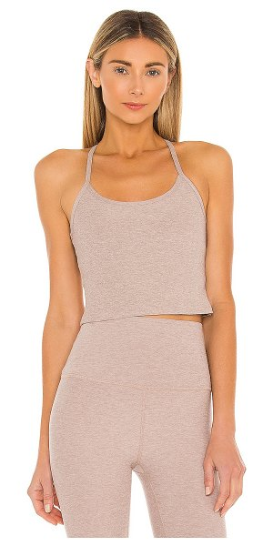 Beyond Yoga spacedye slim racerback tank in chai
