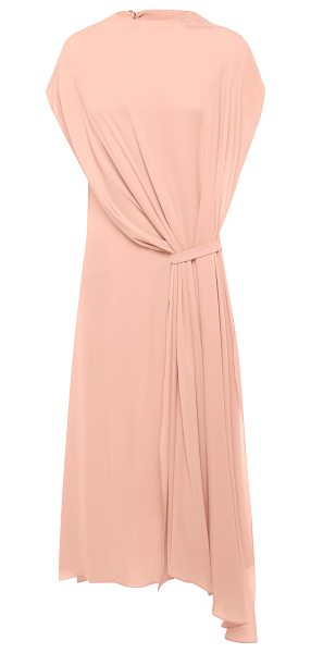 BIANCA SPENDER Funnel Neck Draped Dress in pink - This *Bianca Spender* Funnel Neck Draped Dress features...