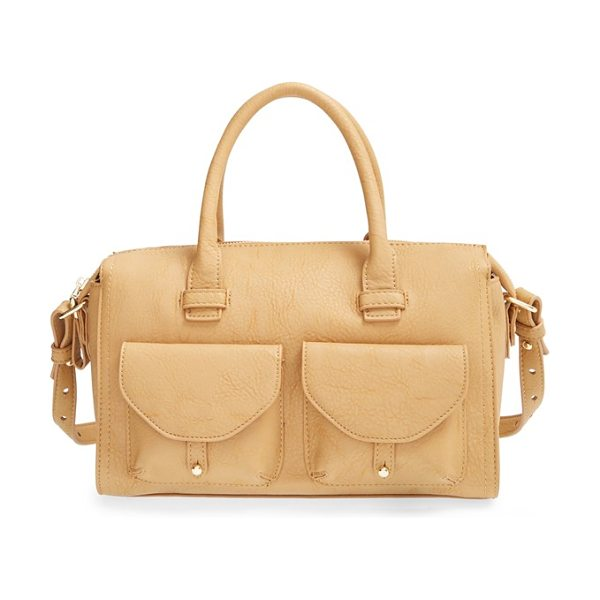 Big Buddha Faux leather satchel in camel