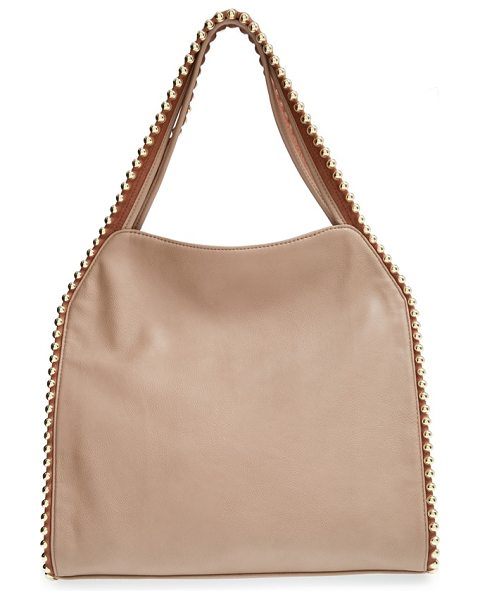Big Buddha Grayson hobo in zigzag cognac trim