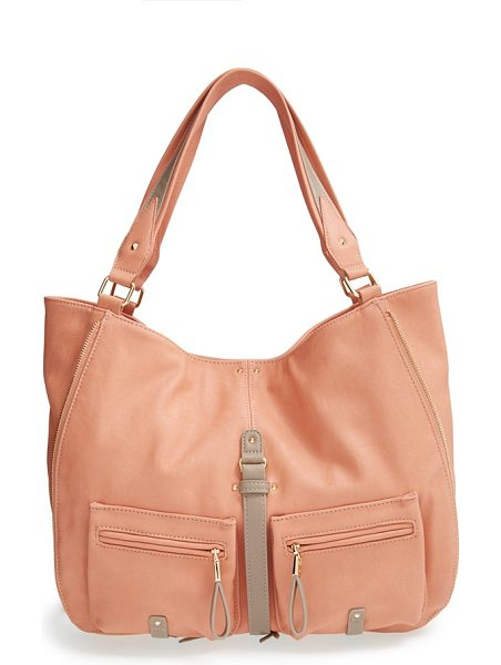 Big Buddha Jana hobo in blush /camel - Smooth faux leather accentuates the casual style of a...