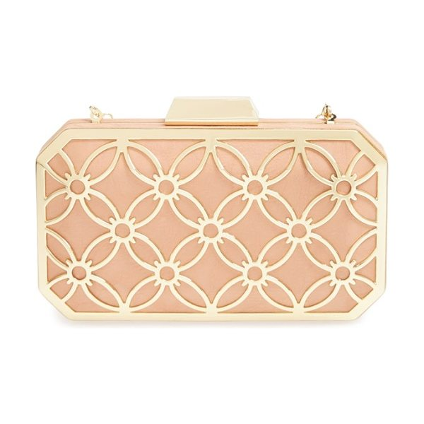Big Buddha Sweetie box clutch in blush - A gilded, Art Deco-style frame lends vintage glamour to...