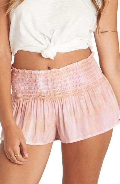 BILLABONG breezy day tie dye shorts in sweet rose - Made for a breezy day at the beach, tie-dyed shorts...