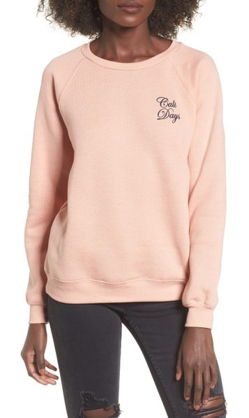 Billabong cali days sweatshirt in pearl pink - When you can't spend your days in Cali sunshine, donning...