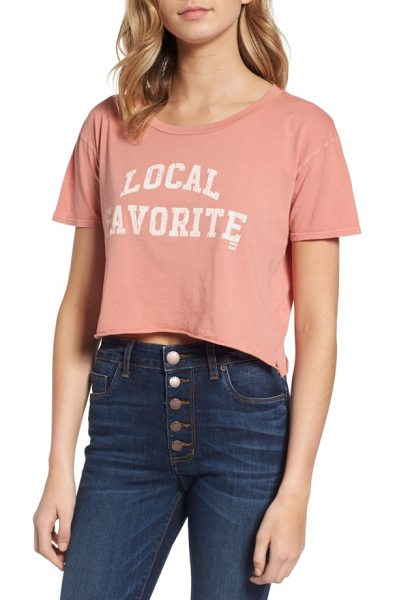 BILLABONG local favorite graphic crop tee - Prove that you belong on the beach in a cropped cotton...