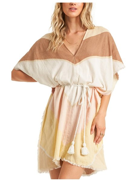 Billabong wishing well tie waist cover-up in coral