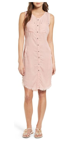 BILLY T fray hem shirtdress in dusty pink - Spring's biggest denim trend, the frayed hem, updates...