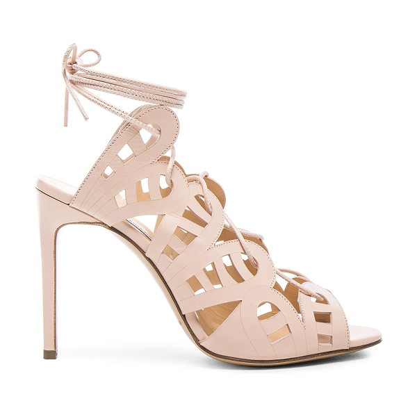 Bionda Castana Hazel Leather Heels in neutrals,pink - Calfskin leather upper and sole.  Made in Italy.  Approx...