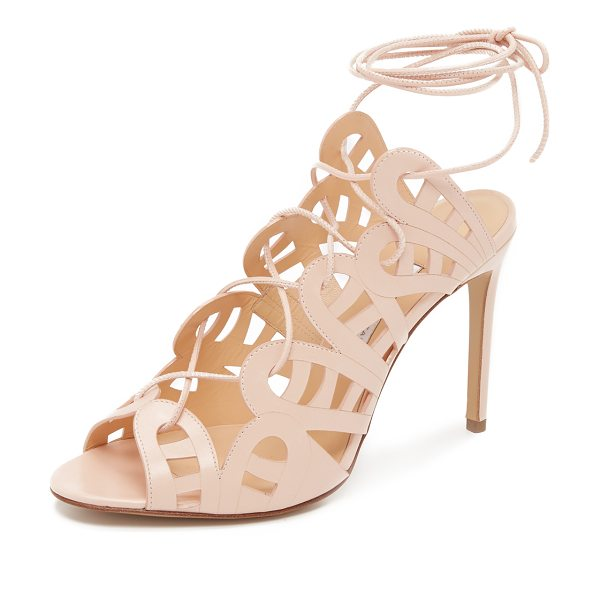 Bionda Castana Hazel sandals in blush - Lacy cutout detailing lends a delicate feel to these...