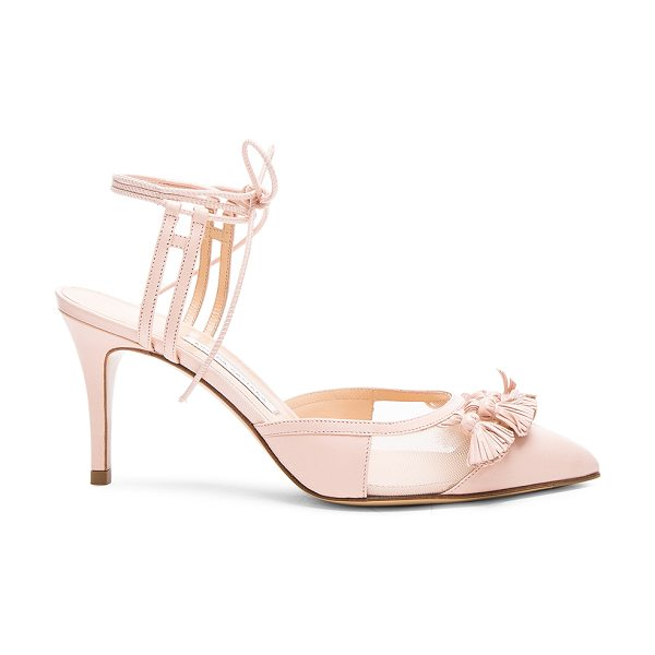 Bionda Castana Leather Ceci Pumps in pink - Leather upper and sole.  Made in Italy.  Approx 75mm/ 3...