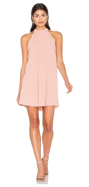 Bishop + Young Cameron Dress in blush - 100% poly. Unlined. Pleat detail on front. Back keyhole...