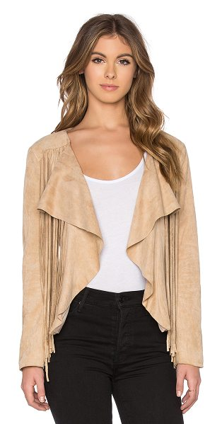 Bishop + Young Fringe Suede Jacket in beige - Self: 85% poly 15% polyurethaneLining: 100% poly. Hand...