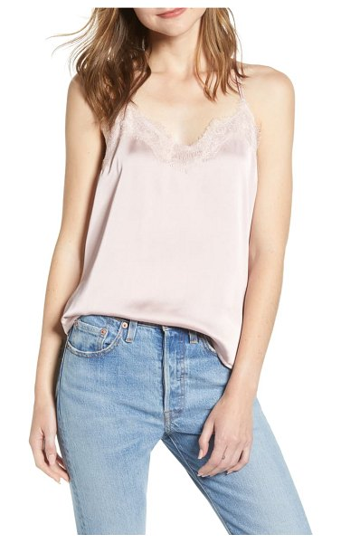 Bishop + Young lace detail camisole in pink