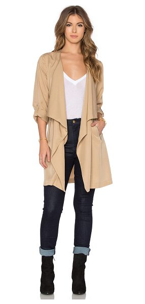 BISHOP + YOUNG Military lightweight trench - 100% tencel. Hand wash cold. Open front. Side zippered...