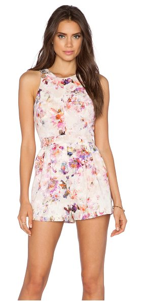 Black Halo Caely playsuit in pink
