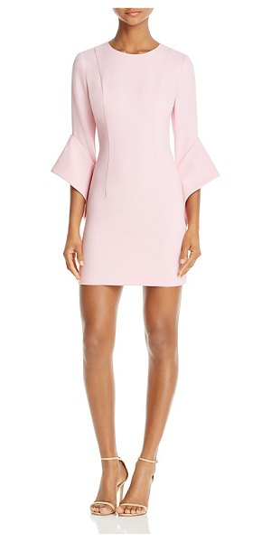 Black Halo Lorie Bell-Sleeve Mini Dress in misty pink