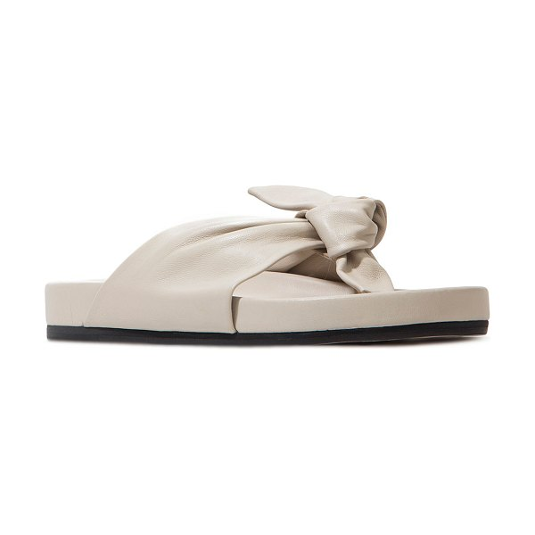 BLACK SUEDE STUDIO Charlize Knotted Napa Sporty Sandals in coconut