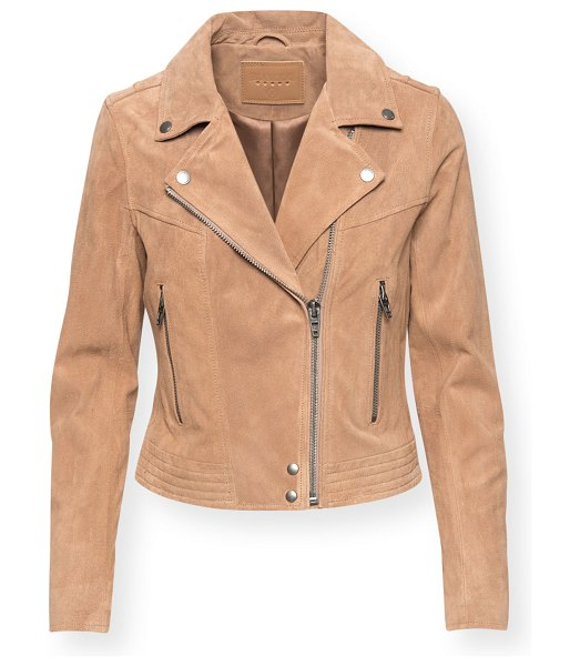Blank NYC Act Natural Suede Moto Jacket in act natural