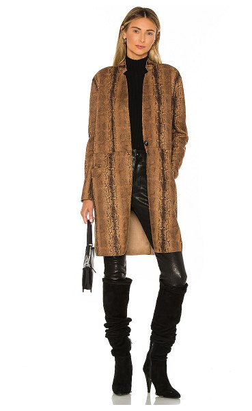 Blank NYC copperhead faux leather coat in copperhead