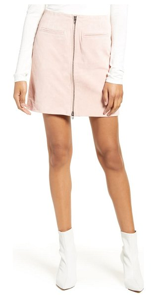 Blank NYC suede miniskirt in pink