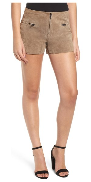 Blank NYC suede shorts in brown