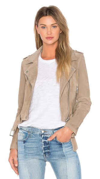 Blank NYC Suede Moto Jacket in brown - Self: Genuine leatherLining: Cotton blend. Professional...