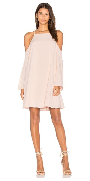 Blaque Label Exposed Shoulder Dress in blush